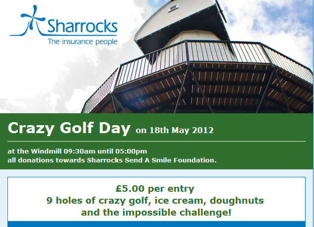 Crazy Golf Day at Sharrocks Insurance