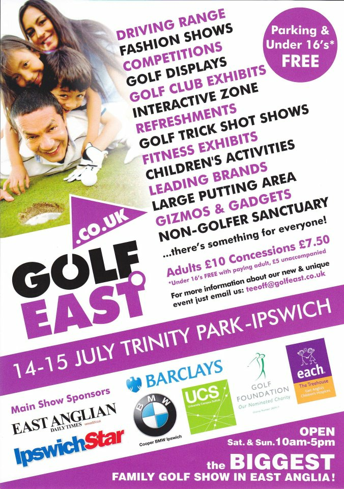 Golf Show at Trinity Park, Ipswich July 14th & 15th