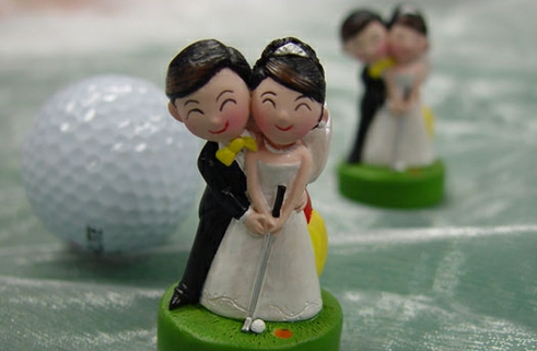 golf themed wedding cake toppers wedding mini golf will you say i do golf 14845