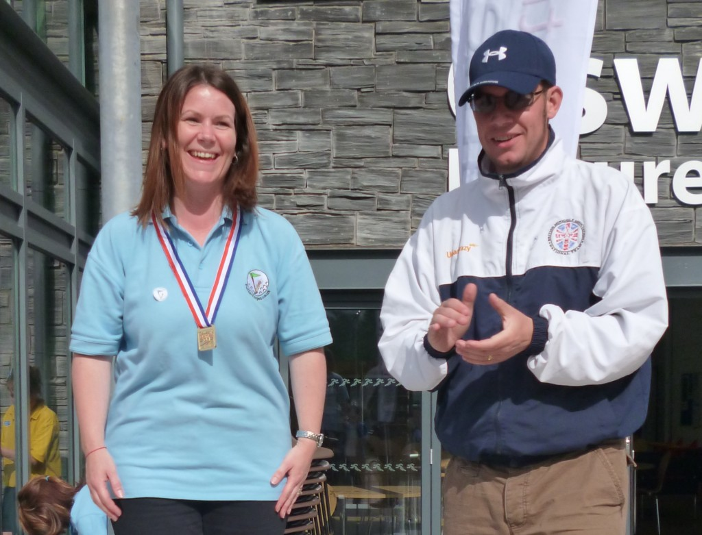 Medal ceremony at the BMGA and Putterfingers Open at Oswestry Games