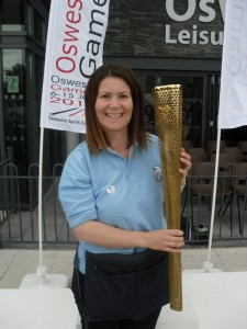 The Olympic torch at Oswestry Games