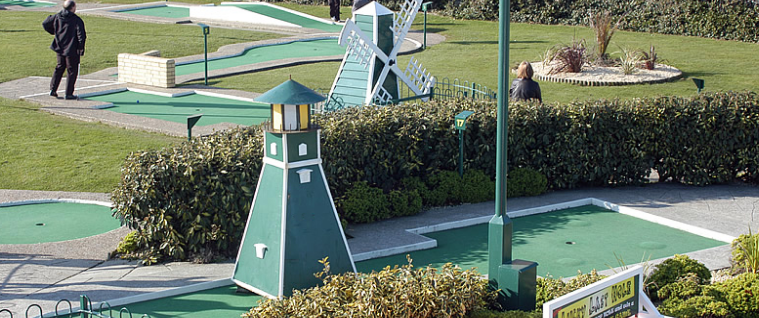 Crazy Golf course at Hastings