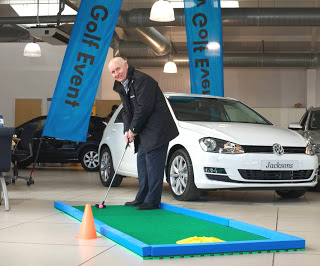Mixing crazy golf with the launch of the new VW Golf