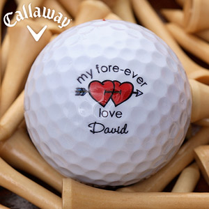 My 'fore-ever love' David personalised golf ball