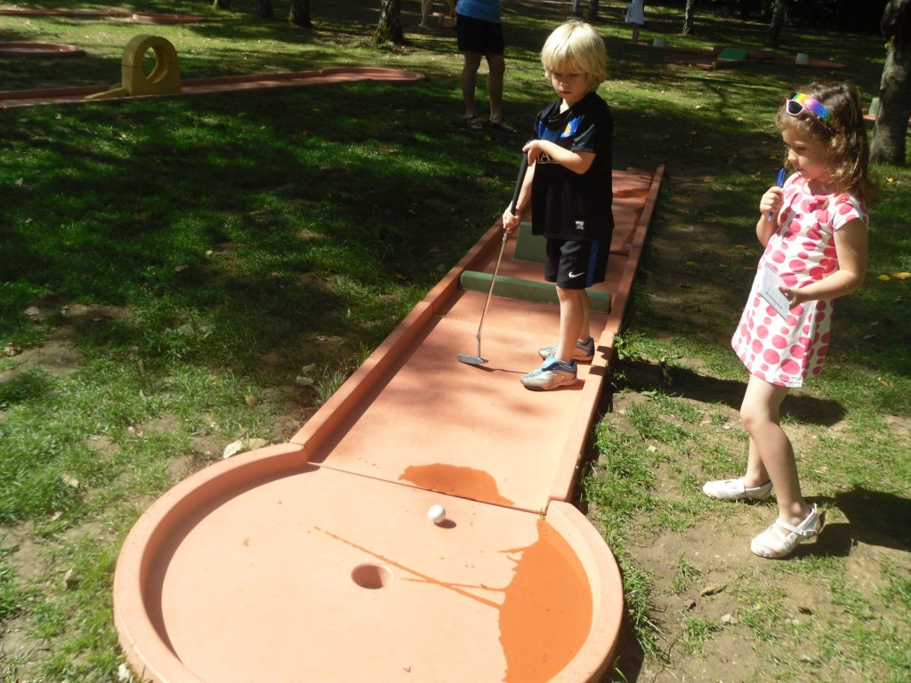 Mini Golf is a great activity for getting to know each other