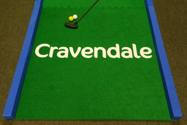 Branded Crazy Golf Hole, branded minigolf hire
