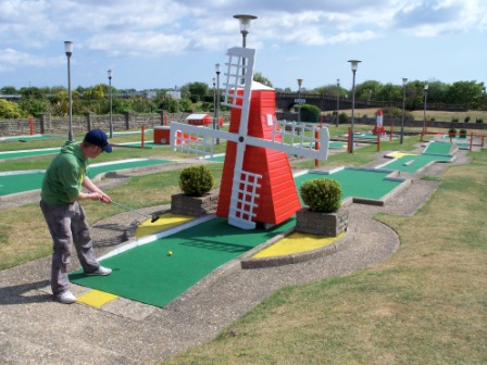 Crazy Golf Windmill Obstacle