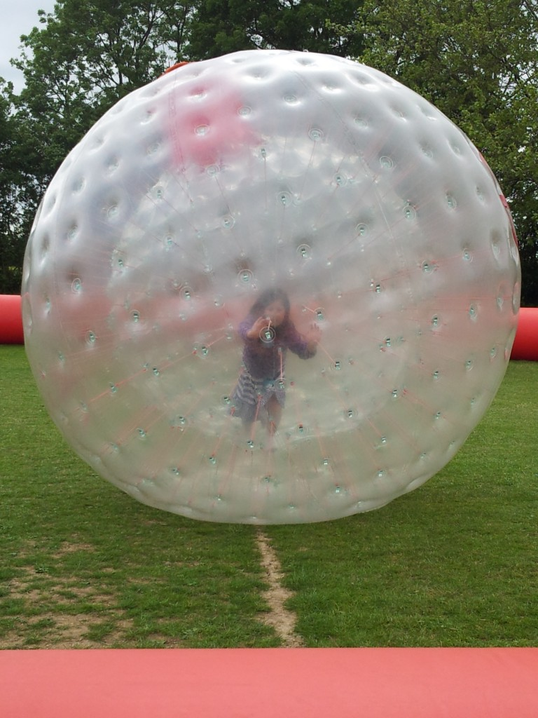 Body Zorbing at Capel Fun Day