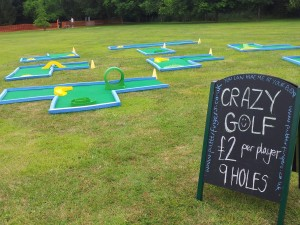 Putterfingers 9 hole Crazy Golf set up