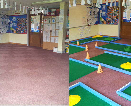 9 holes of golf Before and After Classroom Shots