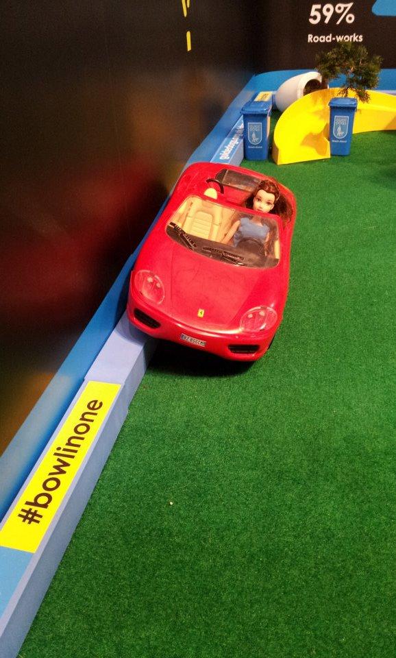 Branded Foam Edge Bumper with Barbie car