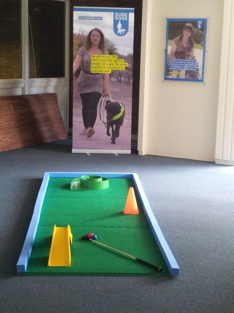 Crazy Golf at Guide Dogs Redbridge