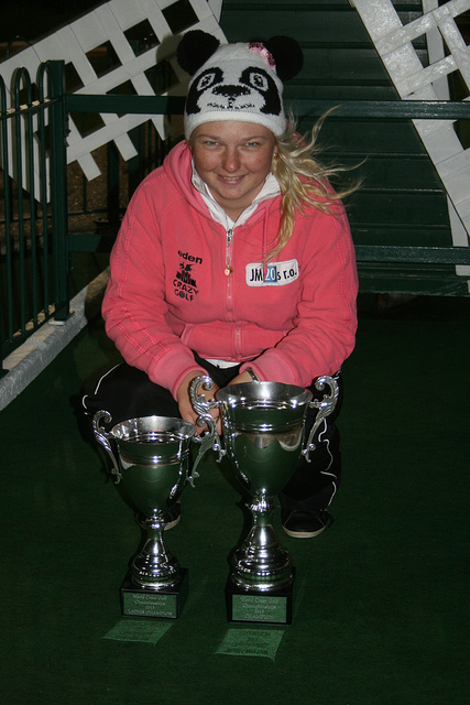 World Crazy Golf Championships 2013 Winner Olivia Prokopova
