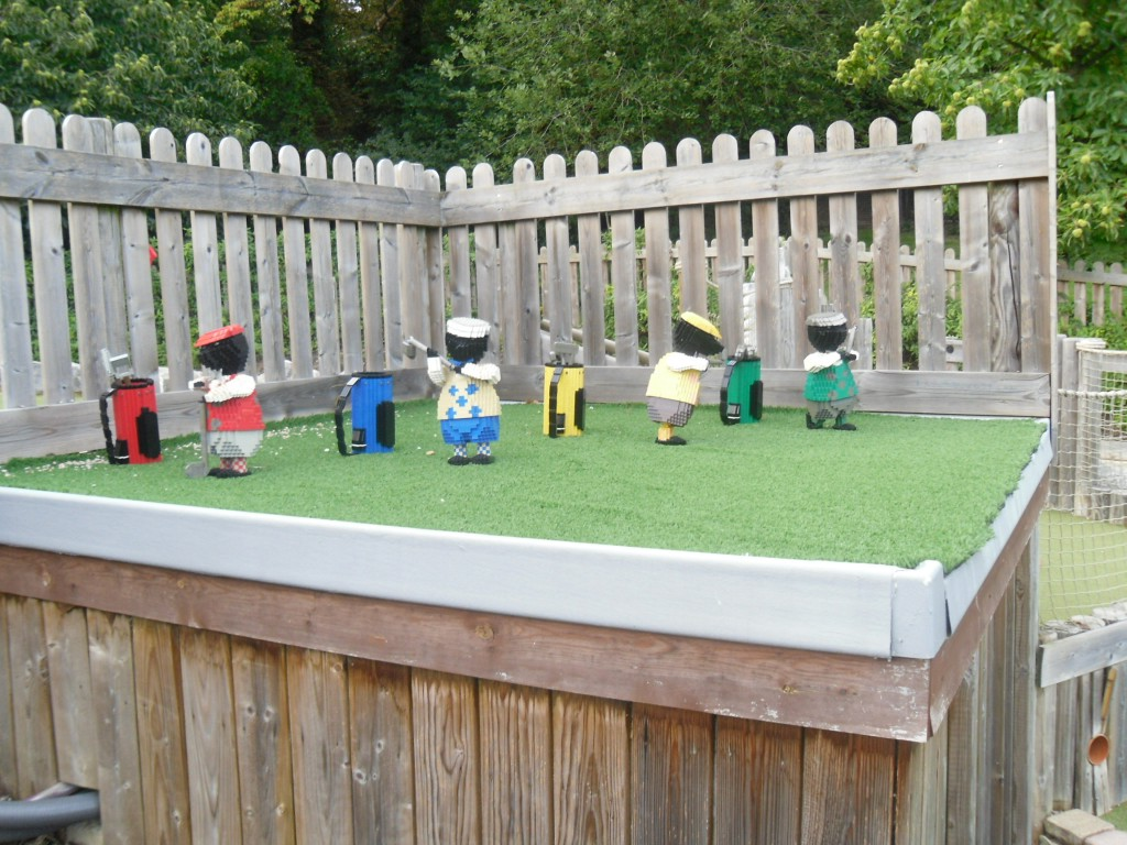 Moles playing mini golf at Legoland Windsor