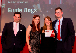 Guide Dogs victory for the Mini Golf Exhibition stand