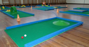 Portable Crazy Golf in School Hall