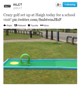 Portable Crazy Golf Set-up for schools