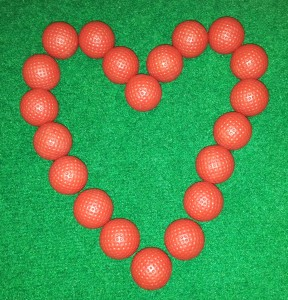 Love Heart from Golf balls
