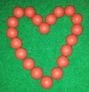 Love Heart from Golf balls