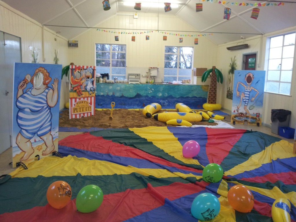 Bech themed activity using seaside cut outs