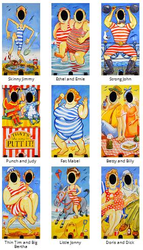 seaside photo boards