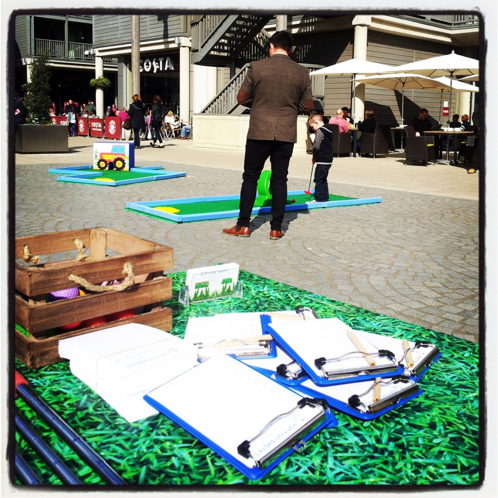 Crazy golf on Charter Square over Easter