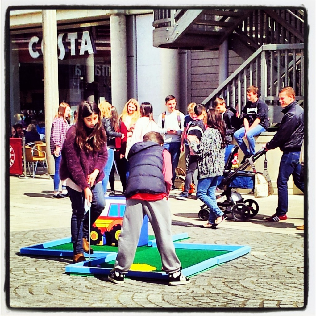 Crazy Golf on Charter Square