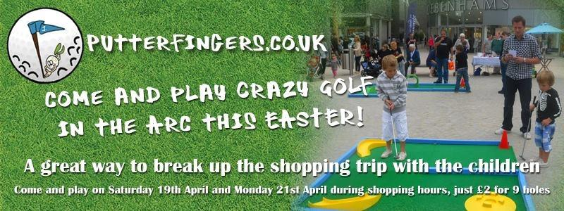 Portable Crazy Golf on Charter Square