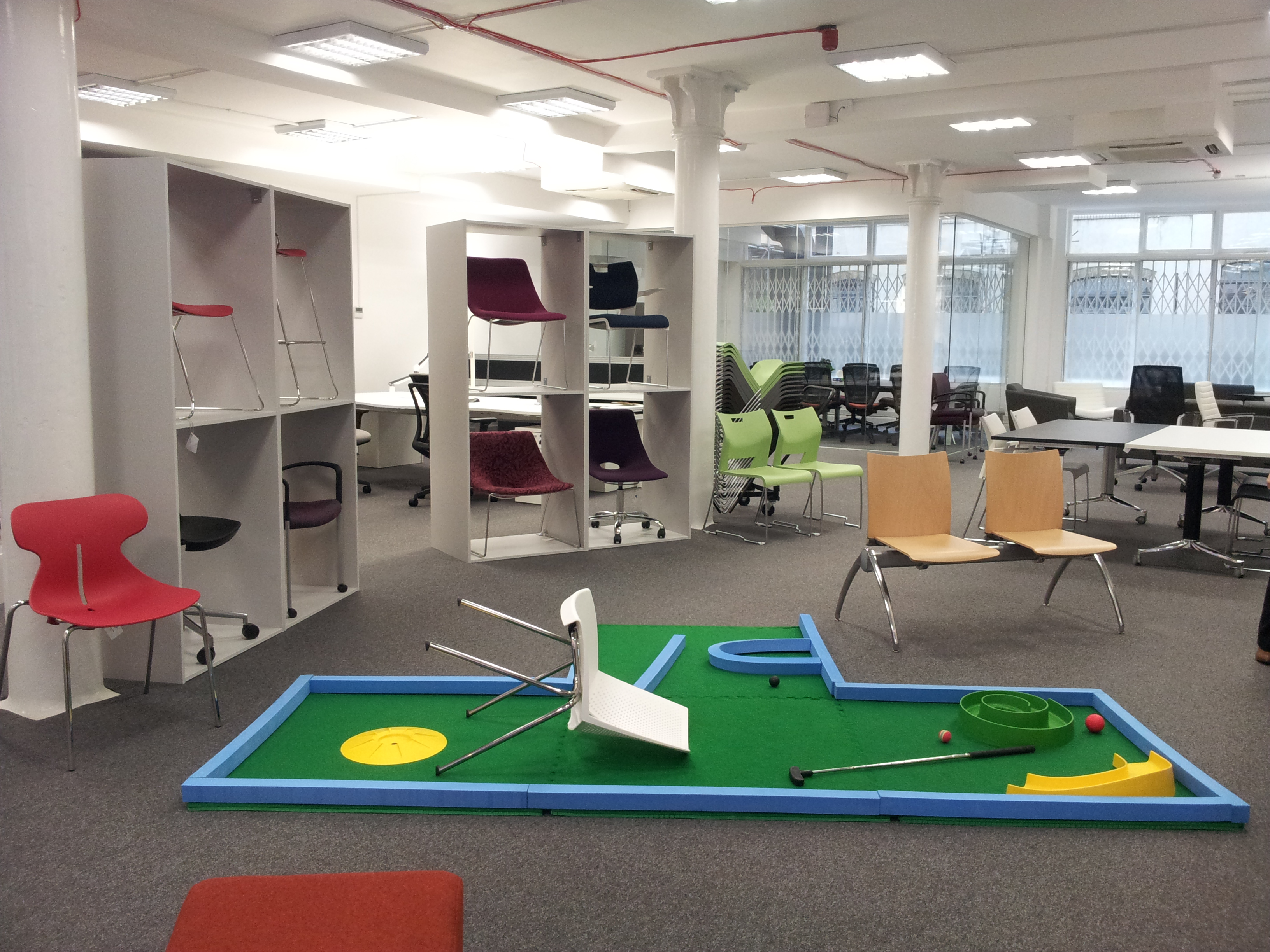 play a furniture inspired crazy golf course at cdw14