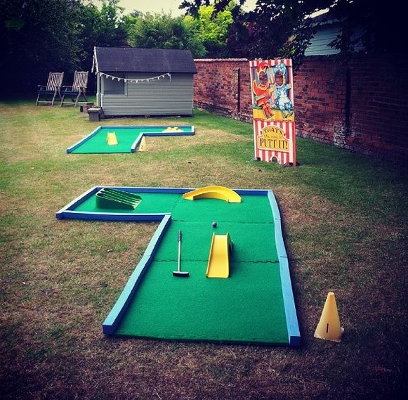 Portable Crazy Golf for fundraising activities