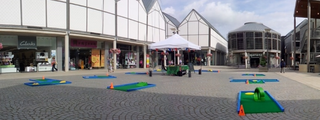 Test your putting skills from 27th-31st August on Charter Square, Bury St Edmunds