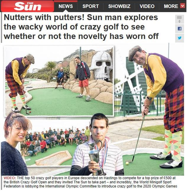 The Sun feature Crazy Golf at the Olympics