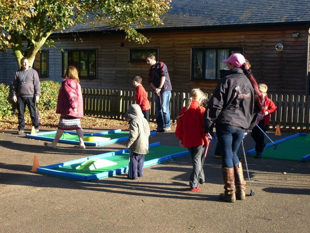 Crazy Golf Fun for school children at Family Week activity