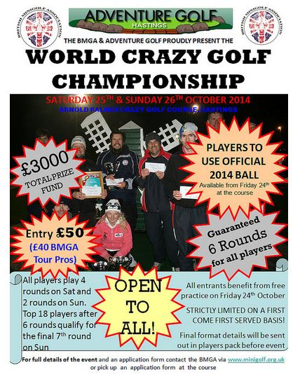 Hastings Adventure Golf to host World Crazy Golf Championships 2014