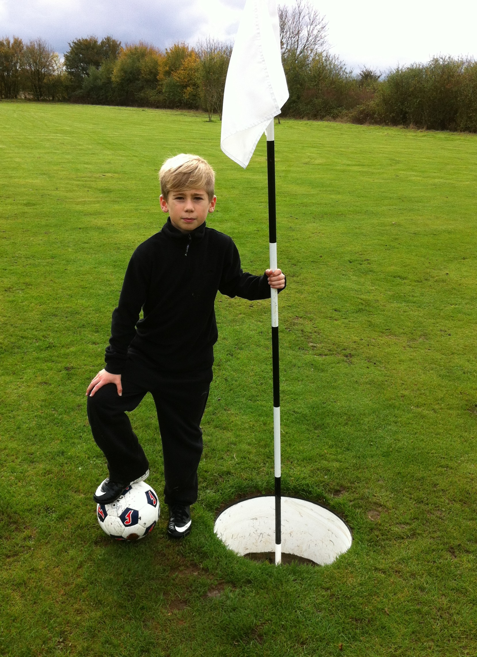 At the FootGolf Hole