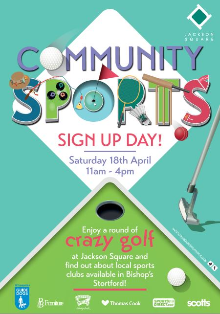 Try crazy golf at the Jackson Square, Community Sports Sign up Day 18th April 2015