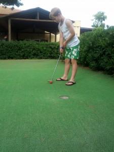 Putting Green at Majorcan Hotel