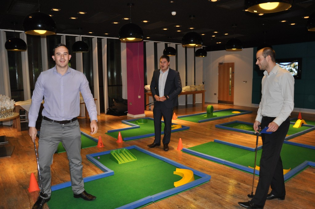 minigolf, crazy golf, corporate event