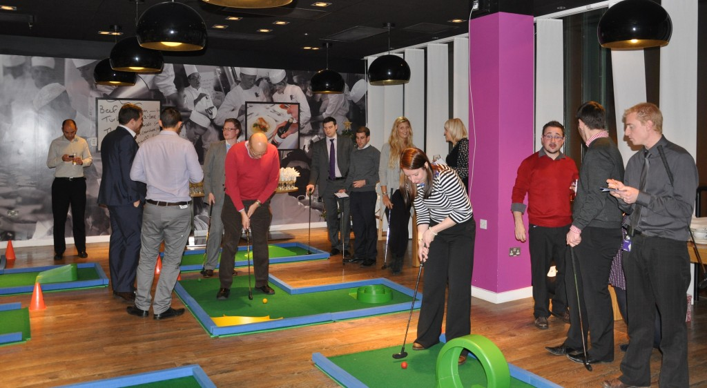 Minigolf works as a great networking tool