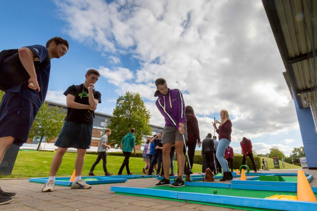 University Crazy Golf Hire