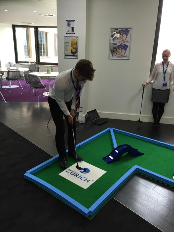 Minigolf, crazy golf, corporate hire, branded minigolf hire