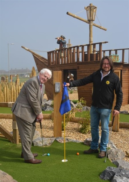 New minigolf course, wales, aberavon, port talbot