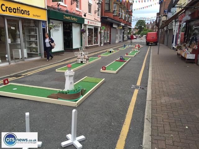 street minigolf, street crazy golf