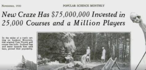 1930s, 1930s minigolf, minigolf vcraze, crazy golf 1930s