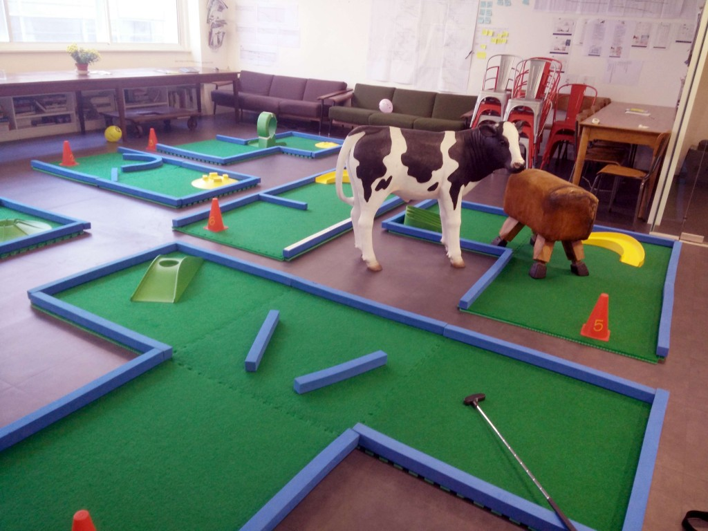 Office minigolf hire London