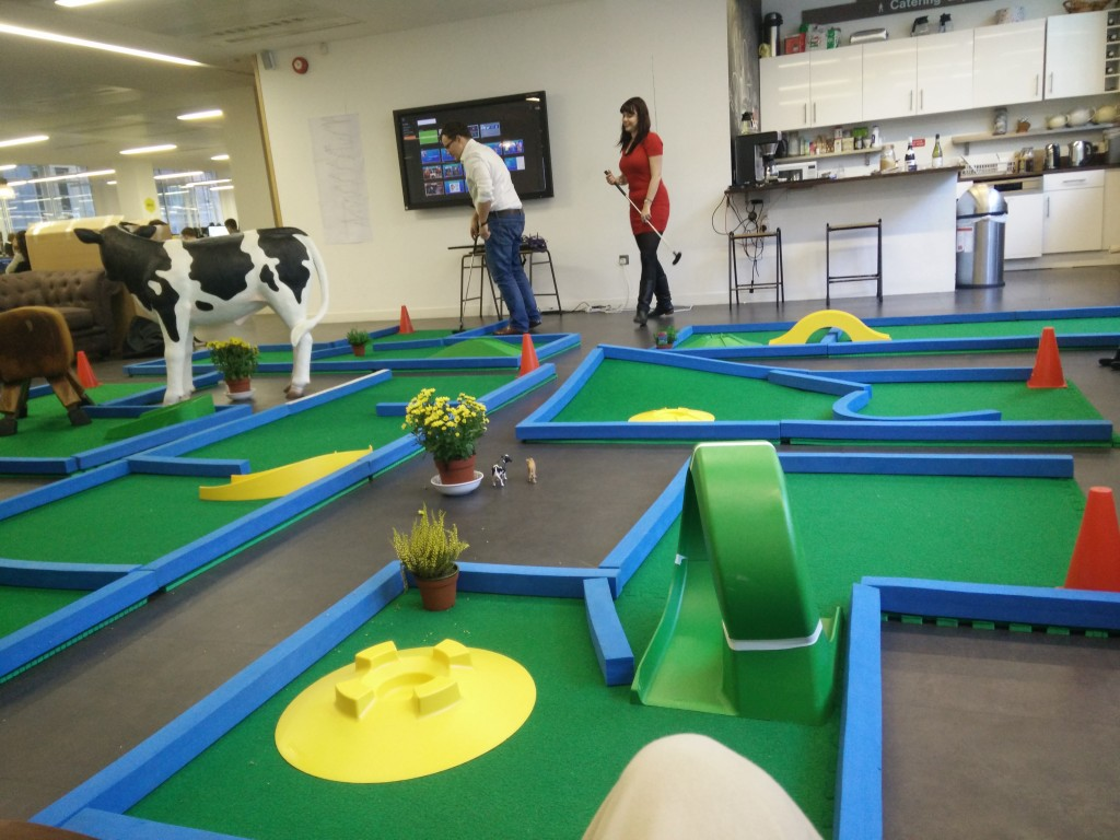 Hire office minigolf in London