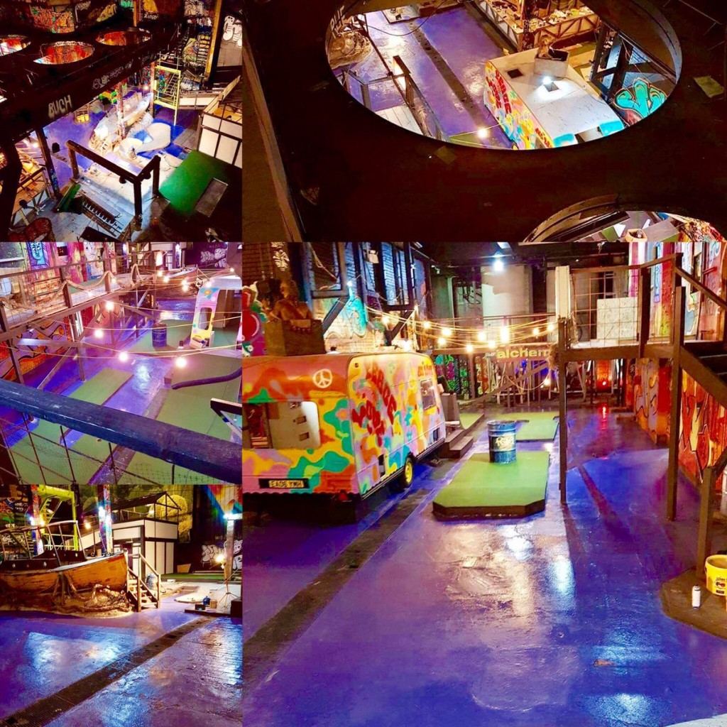 Ghetto golf, cairns Brewery, Liverpool, crazy golf, mminigolf