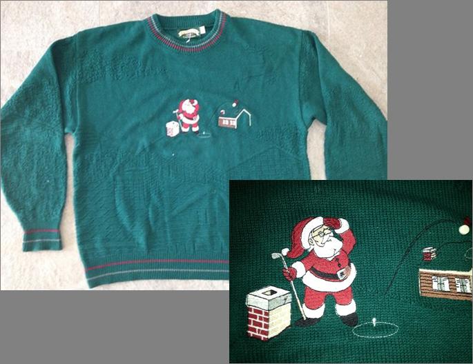 Hideous minigolf sweater