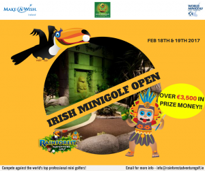 Irish minigolf open, minigolf news, 2017, rainforest adventure golf ireland