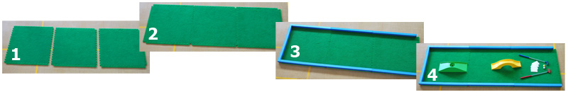 Create, minigolf putting green, minigolf putting surface, eternite, astroturf, astrograss, crazy golf putting green